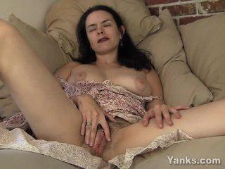 Pierced MILF Lucia Masturbating